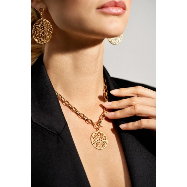 Chain with Mokobelle rosette and decorative clasp