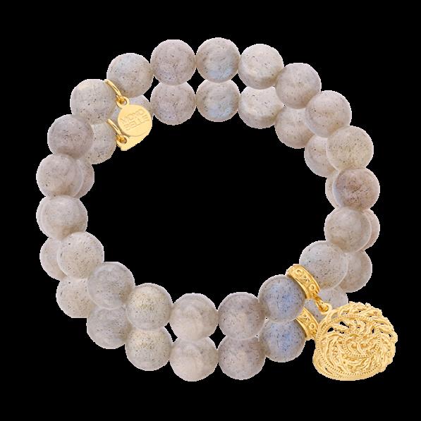Labradorite bracelet with Flora rosette