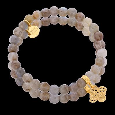 Labradorite bracelet with Tosca rosette