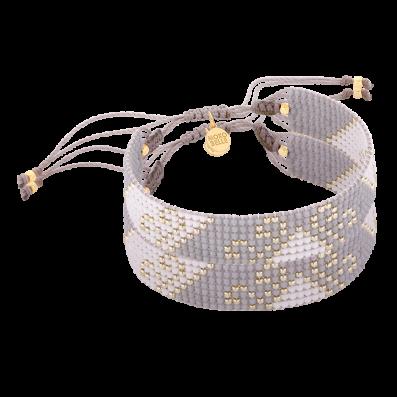 Grey braided bracelet