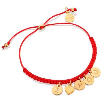Czerwona bransoletka I LOVE...