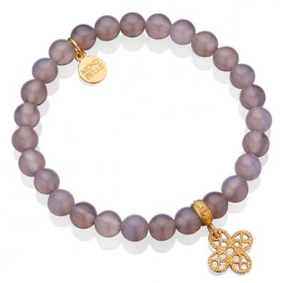 Grey agats bracelet with...