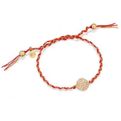 RED BRAIDED BRACELET WITH...