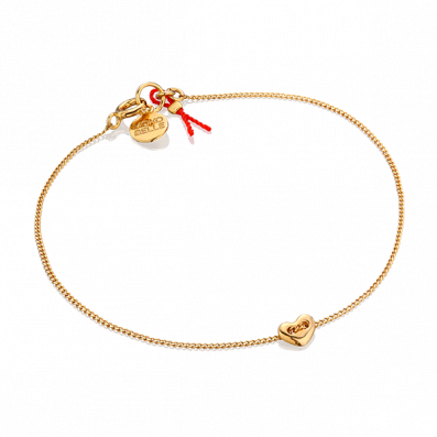 Gold-plated bracelet with heart