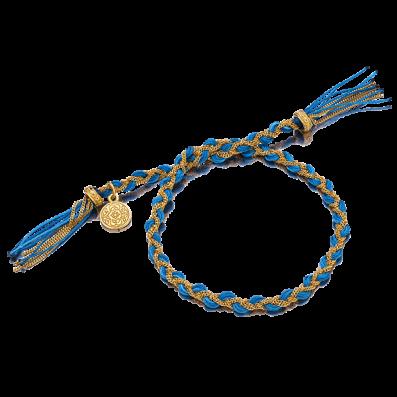 Niebieska bransoletka warkoczyk royal