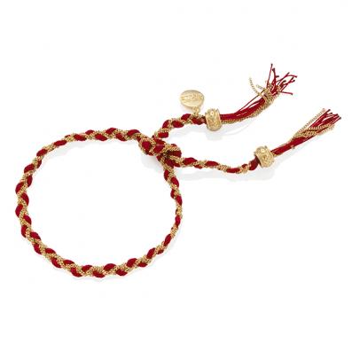 Czerwona bransoletka warkoczyk royal