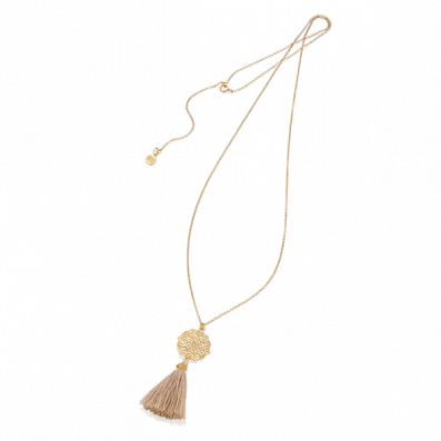Necklace with Estella rosette and tassel