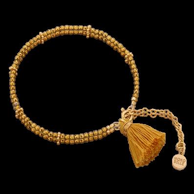 Bransoletka ze złotych hematytów z chwostem