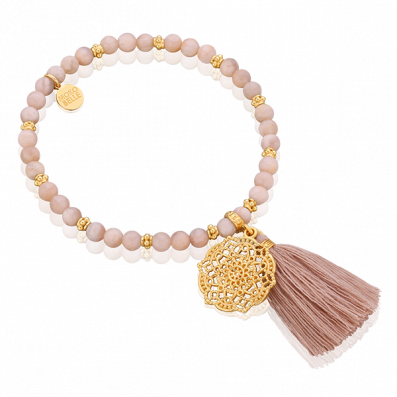 Moonstones bracelet with Estella rosette