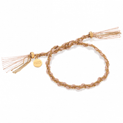 Nude royal braided bracelet