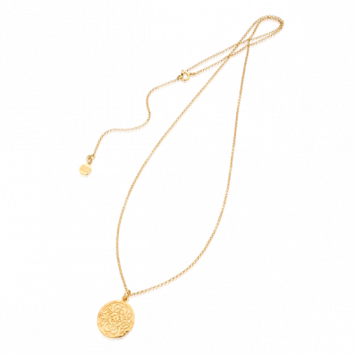 Necklace with Mokobelle medallion