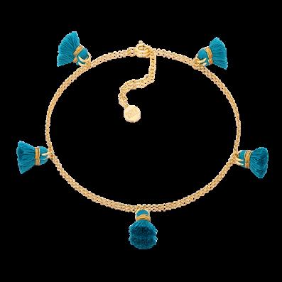 Ankle bracelet with tassels