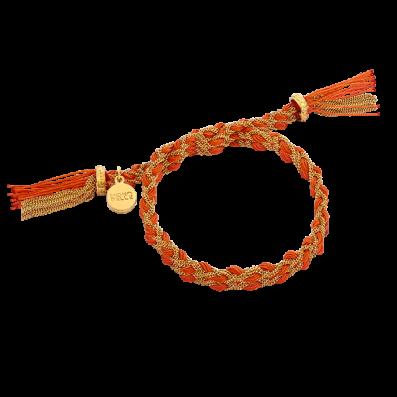 Pomarańczowa bransoletka warkoczyk royal
