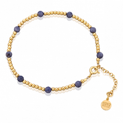 Gloria bracelet with beads and sapphires