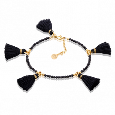 Spinels bracelet with five tassels