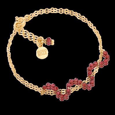 Chain bracelet with garnets