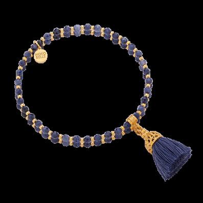 Sapphires bracelet with tassel