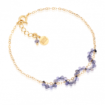 Chain bracelet with water sapphires