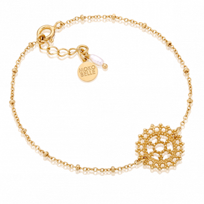 Bracelet with royal rosette and pearl