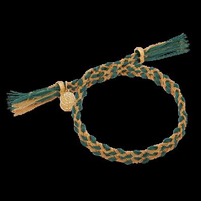 Bottle green royal braided bracelet