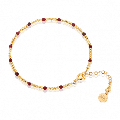 Gloria bracelet with beads and garnets