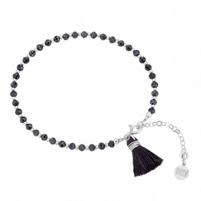 Spinels bracelet with tassel