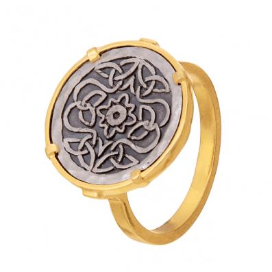Ring with Mokobelle talisman
