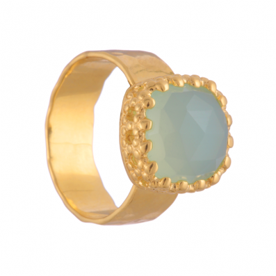 RING WITH PREHNITE