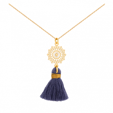 Necklace with Margaritta rosette and tassel