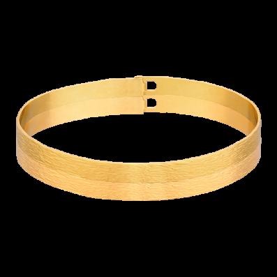 Gold-plated bangle bracelet