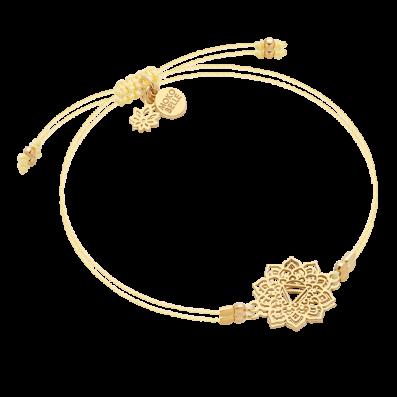 Bracelet with solar plexus chakra