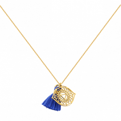 Necklace with third eye chakra and tassel