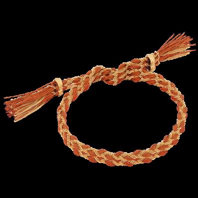 Ruda bransoletka warkoczyk royal