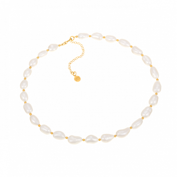 Choker with natural pearls