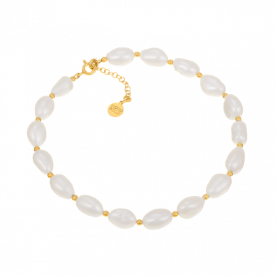 Ankle bracelet with pearls