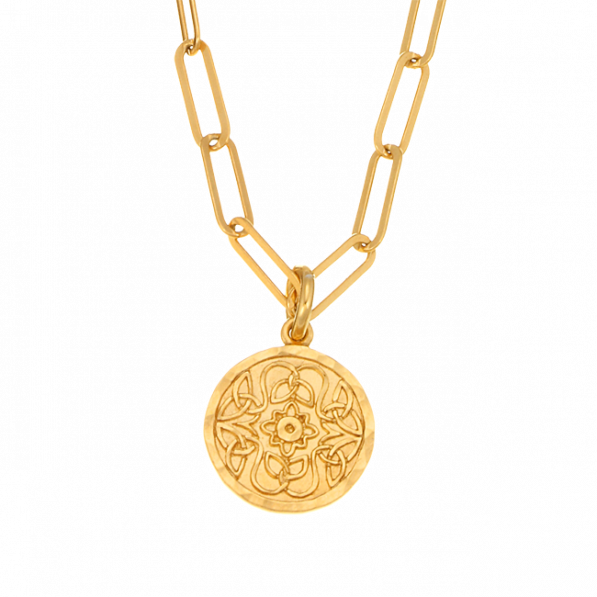 Chain necklace with Mokobelle medallion