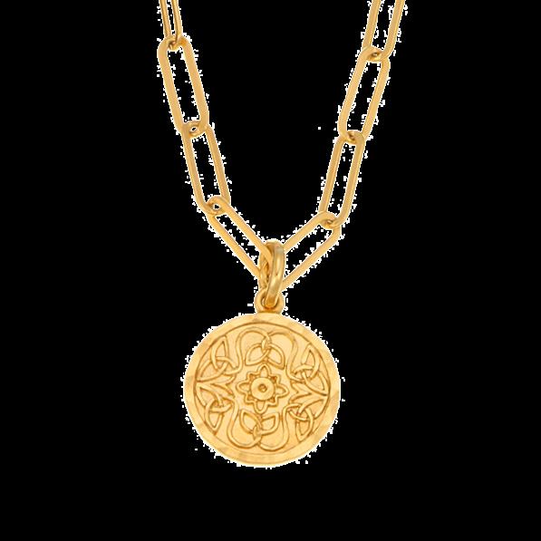 Naszyjnik łańcuch z medalikiem Mokobelle