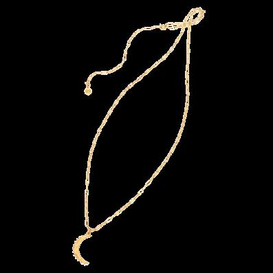 Naszyjnik łańcuch z półksiężycem