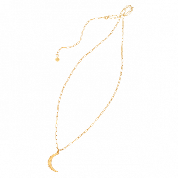 Chain necklace with crescent moon pendant
