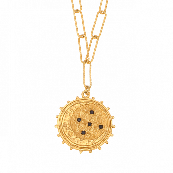 Chain necklace with Andromeda rosette