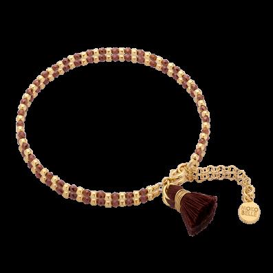Copper hematites braceletwith cinnamon tassel