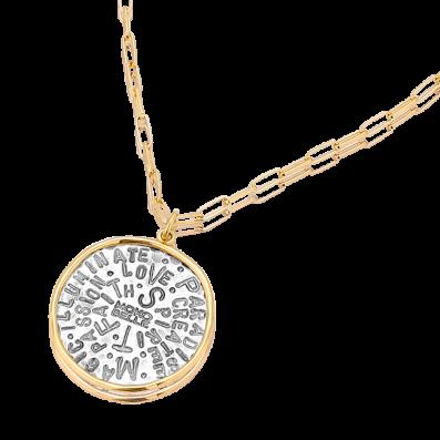 Naszyjnik łańcuch z talizmanem Spirit