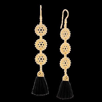 Sofia earrings with black tassel