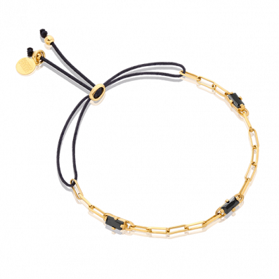 Bracelet with chain and zirconium