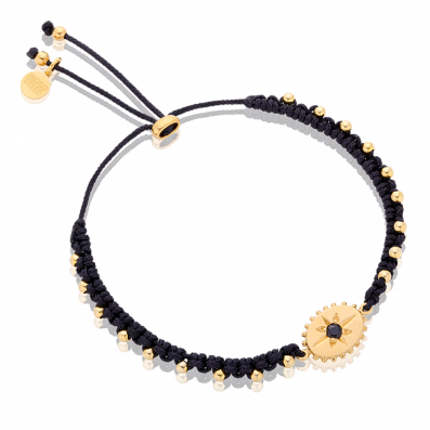 Bracelet with small medallion and spinel