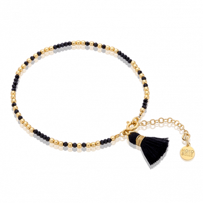 Bracelet with spinels, beads and tassel