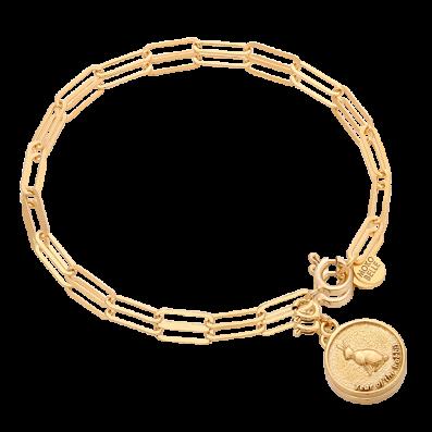 Bransoletka z monetą z chińskim zodiakiem