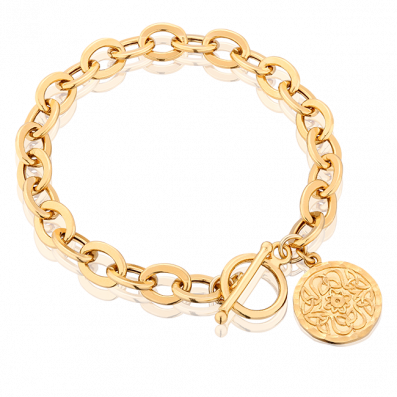 Chain bracelet with Mokobelle medallion