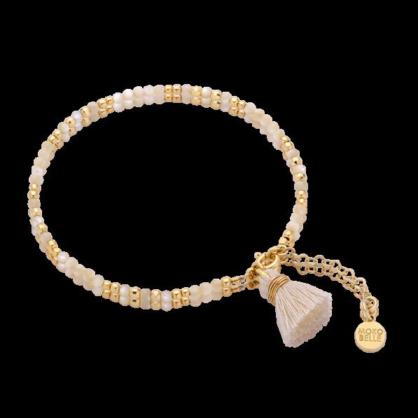 Nacre bracelet with tassel