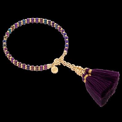 Bransoletka z fioletowych spineli z chwostami